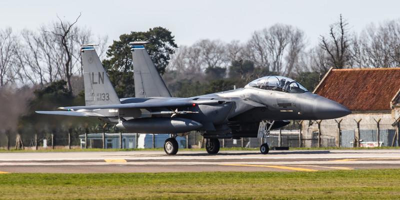 F15-E Strike Eagle - 48FW - 492FS - LN AF 98-0133 - RAF Lakenheath (March 2019)