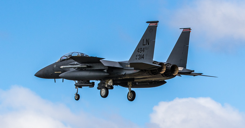F15-E Strike Eagle - 48FW - 494FS - LN 494FS AF 91-0314 - RAF Lakenheath (March 2019)
