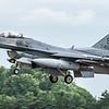 F16 Falcon - USAF - 52FW - 480FS - SP AF 91-0412 - RIAT Arrivals - RAF Fairford (July 2017)