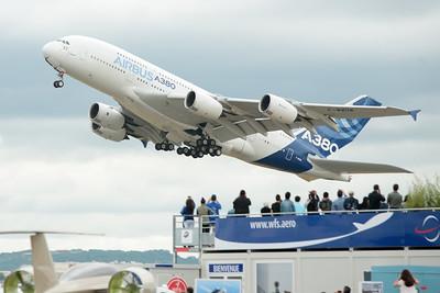 A380 takeoff, Salon du Bourget