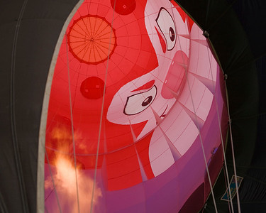 Photo taken September 27, 2008.  Inside a show balloon, Pellissippi State Community College Balloon Festival, 2008.
