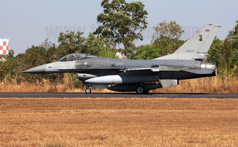 "The Royal Thai Air Force contingent at Pitch Black 2012 consisted of aircraft from two squadrons, this is a F-16A Block 15 aircraft from 403 ""Cobra"" squadron, normally based at Takhli"