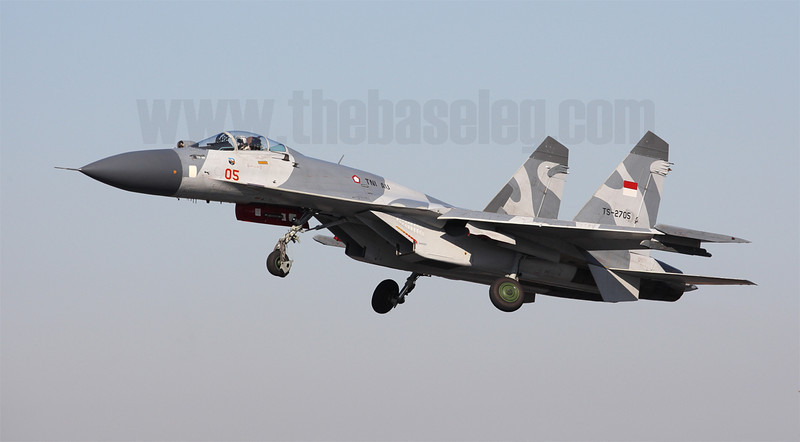 The TNI-AU's deployment to Pitch Black marks the first time the service has taken part in an overseas multilateral exercise. Pictured here is Su-27SKM TS-2705.
