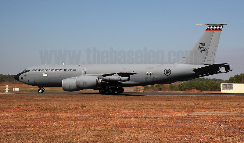 This Republic of Singapore Air Force KC-135R Stratotanker supported the Singaporean and Thai aircraft at the exercise. The RSAF currently operates four KC-135s with 112 Squadron.
