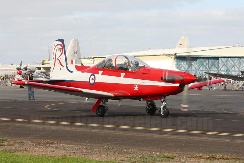 RAAF Roulettes Pilatus PC-9 A23-058