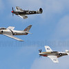Formation of Spitfire VIII, CAC Sabre Mk.31 and CAC Mustang