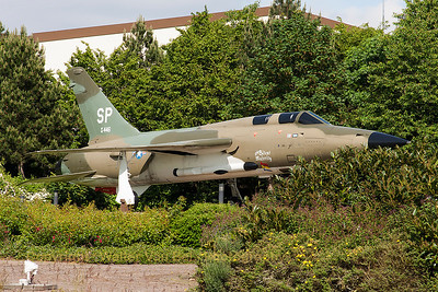 "F-105G Thunderchief (62-4446/SP) - nicknamed ""the Silent Majority"" - preserved at Spangdahlem."