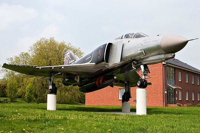 """The """"Red Baron"""", an F-4F Phantom II (37+03), preserved at Wittmund."""
