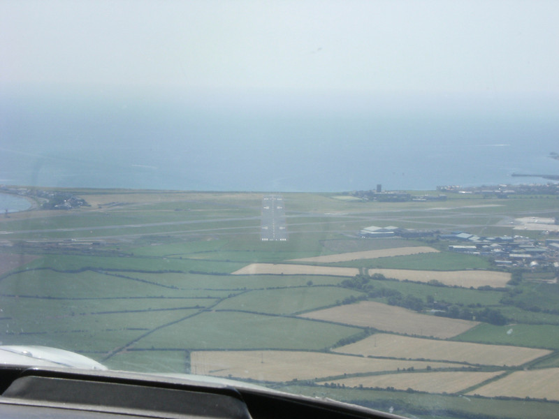 On a straight in approach to Runway 21 at Ronaldsway