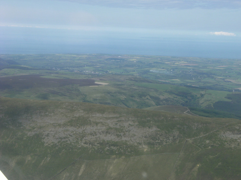 Looking towards Jurby over North Barrule