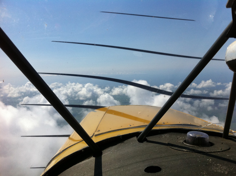 Southbound over the Newton Stewart with the Isle of Man in the distance. iPhone photo hence propeller banding.