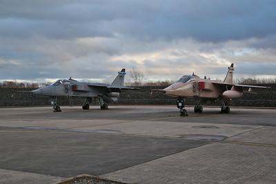 RAF SEPECAT Jaguar GR.3As, XZ117 / ES & XX725 / T - 08/03/18
