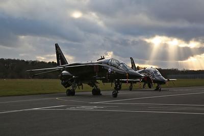 RAF SEPECAT Jaguar T.2, XX837 / Z & RAF Hawker Siddeley Hawk T.1A, XX335 - 08/03/18