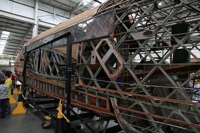 Vickers Wellington T.10 MF628 under restoration - 19/03/11.