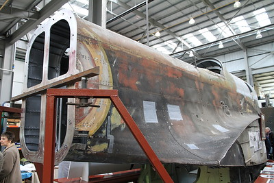 Handley Page Hampden Mk.1 P3144 under restoration after being recovered from Russia where it was shot down by 2 x Messerschmitt Bf 109's in 1942 (the bullet holes from the attack are clearly visible) - 19/03/11.