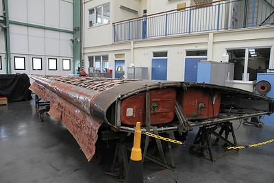Wing of Vickers Wellington T.10 MF628 under restoration - 19/03/11.