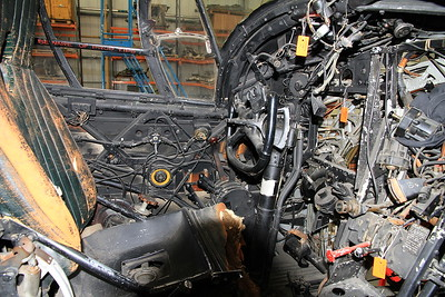 Inside the cockpit of Vickers Wellington T.10 MF628 under restoration - 19/03/11.