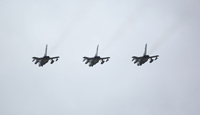 ZD716/084/DH leads ZA542/035 & ZD744/092 over Lytham ; Tornado Farewell Flypasts - 19/02/19