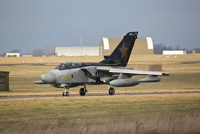 RAF Panavia Tornado GR.4, ZD716/084/DH, taxi for take off - 23/01/19
