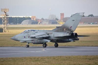 RAF Panavia Tornado GR.4, ZA449/020, taxi for take off - 23/01/19