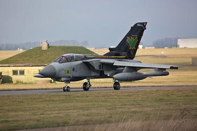 RAF Panavia Tornado GR.4, ZG775/AF, taxi for take off - 23/01/19