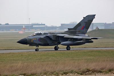 RAF Panavia Tornado GR.4, ZG752/129 (Camo special), taxi for take off - 28/02/19