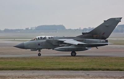 RAF Panavia Tornado GR.4, ZA553/045, taxi for take off - 28/02/19