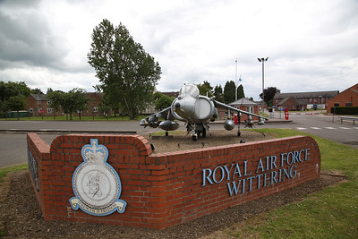 RAF BAe Harrier GR.7A, ZD469, RAF Wittering Gate Guard - 04/06/17.