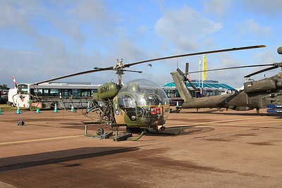 Army Air Corps Historic Flight Agusta-Bell Sioux AH1 XT131/B (G-CICN) on static display - 19/07/15.
