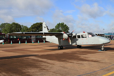 Army Air Corps Britten-Norman Defender T3 ZH004 on static display - 19/07/15.