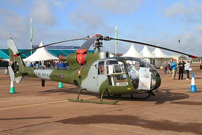 Aerospatiale SA-341C Gazelle HT2 XX436 (G-ZZLE) on static display - 19/07/15.