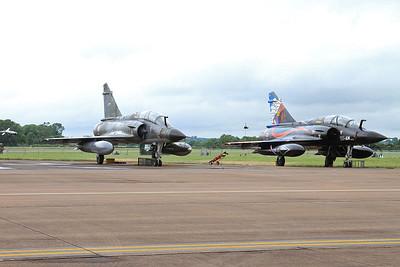 French AF (Ramex Delta Display Team) Dassault Mirage 2000N's, 375/125-CL & 353/125-AM, on the flight line - 10/07/16.