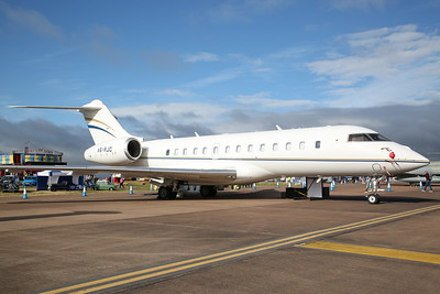 Bombardier BD-700-1A11 Global 5000, A6-RJC, on static display - 16/07/17