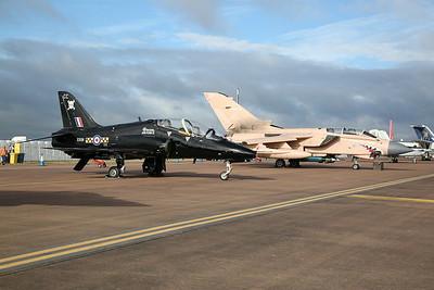 RAF BAe Hawk T.1A, XX191 / CC, and Panavia Tornado GR.4, ZG750 / 128 'Pinky' (25th Anniversary  Operation Granby scheme), on static display - 16/07/17