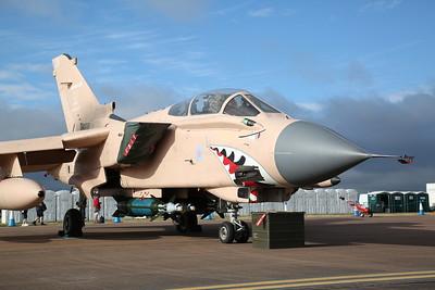 RAF Panavia Tornado GR.4, ZG750 / 128 'Pinky' (25th Anniversary Operation Granby  scheme), on static display - 16/07/17