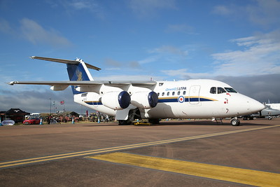 ETPS / QinetiQ BAe 146/ Avro RJ70, QQ102, on static display - 16/07/17