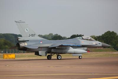 Royal Netherlands AF General Dynamics F-16AM Fighting Falcon, J-017 - 16/07/18