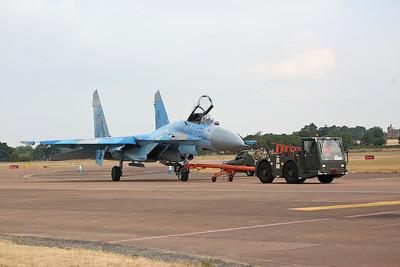 Ukrainian Air Force Sukhoi SU-27 'Flanker', Blue 58, being towed - 16/07/18