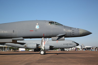USAF Rockwell B-1B Lancer, 85-0069/EL & Boeing KC-135R Stratotanker, 61-0321/D, on static display - 15/07/18