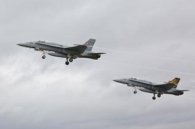 Swiss AF Boeing F/A-18C Hornets, J-5011 & J-5012 - 22/07/19