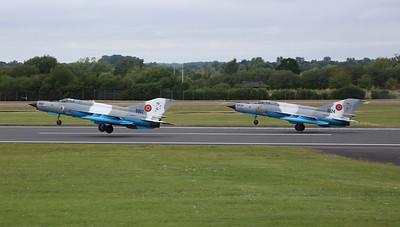 Romanian AF Mikoyan Mig-21 LanceR Cs, 6824 & 6807 - 22/07/19