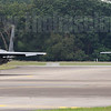 A pair of F-15SGs taxi out to prepare for the twice-daily aerial display