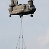 The RSAF's CH-47SD Chinook heavylift helicopter transported Army Light Strike Vehicles and crew in and out of the 'battlefield' during the aerial display