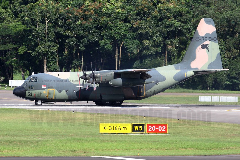 Unlike most of the RSAF C-130 fleet, KC-130B 721's paintwork has faded to a matt appearance.
