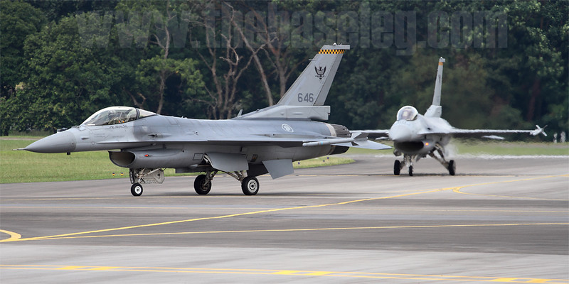 ...followed by a pair of 143 'Phoenix' Sqn F-16Cs, normally based at Tengah