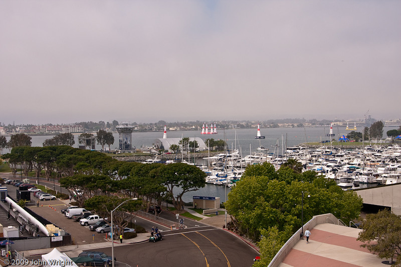 The Red Bull Air Races venue is located at Embarcadero Marina Park South.