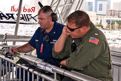 BMC Horan (L) and LtJg Granati were the US Coast Guard representatives on the second day of practice.