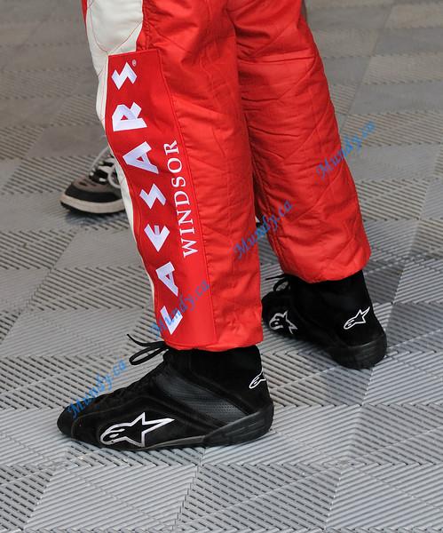 Interesting footwear of Paul Bonhomme.