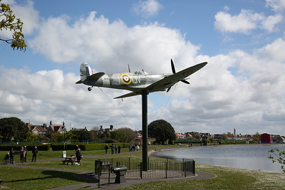 Replica Spitfire, Fairhaven Lake, 23rd April 2017