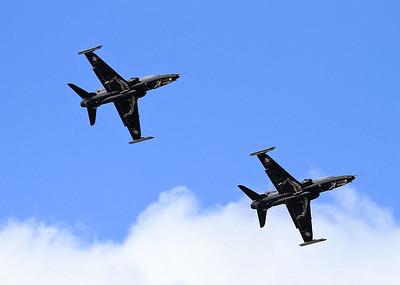 RAF Hawk T2 Role Demo - BAE Systems Hawk T2's ZK026/Q & ZK028/S - 29/08/15.
